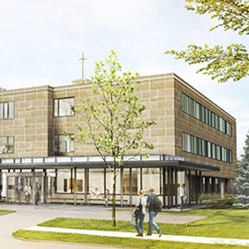 Spotlight story image pertaining to Martin Luther building exterior rendering